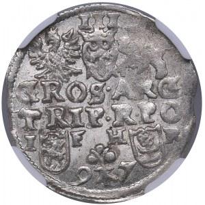 Poland - Poznan 3 grosz 1597 - Sigismund III (1587-1632) - NGC MS 63