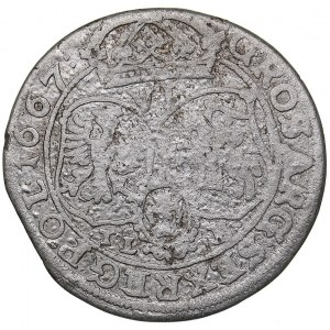 Poland 6 grosz 1667 - Johann Casimir (1649-1668)