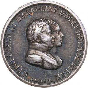 France medal Charles Ferdinand, Duke of Berry, 1820