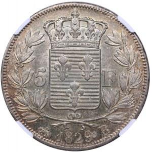 France 5 francs 1829 B - NGC MS 61