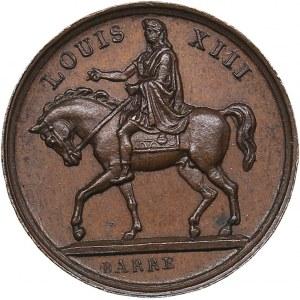 France medal Place Royale a Paris 4 november 1829 - Louis XIII Statue