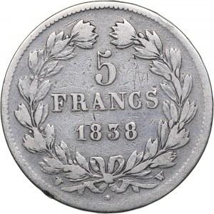 France 5 francs 1838