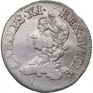 Sweden 2 mark 1671 - Karl XI (1660-1697)