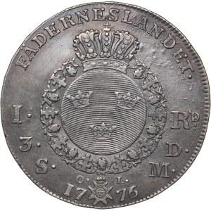 Sweden 1 riksdaler 1776 - Gustav III (1771-1792)