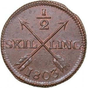 Sweden 1/2 skilling 1803