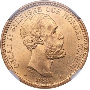 Sweden 20 kronor 1898 EB - Oskar II (1872-1907) - NGC MS 65