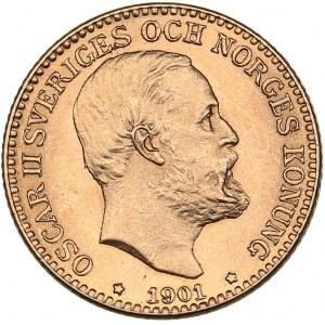 Sweden 10 kronor 1901 - Oskar II (1872-1907)