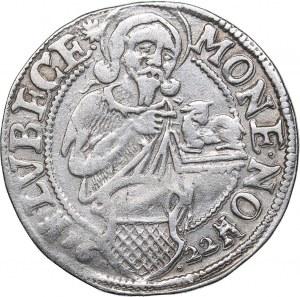 Germany - Free City Lübeck 1/8 taler 1622