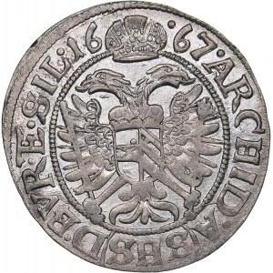 Germany - Silesia 3 kreuzer 1667