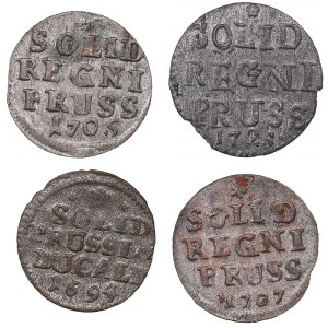 Germany - Prussia solidus 1694, 1705, 1707, 1725 (4)