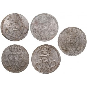 Germany - Prussia solidus 1733, 1734, 1737, 1737 (5)