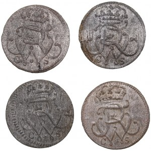 Germany - Prussia solidus 1733, 1734, 1737, 1738 (4)