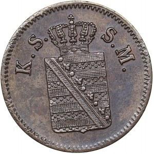 Germany - Saxony-Albertine 1 pfennig 1859 F
