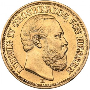 Germany - Hessen 10 mark 1879 H