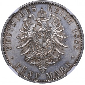Germany - Prussia 5 mark 1888 A - NGC MS 62