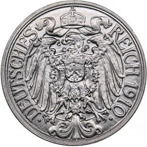 Germany 25 pfennig 1910 E