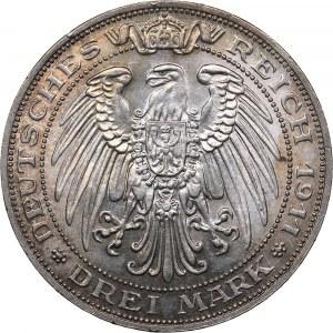 Germany - Prussia 3 mark 1911 A - University of Breslau