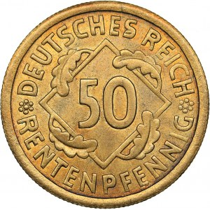 Germany - Weimar Republic 50 rentenpfennig 1924 A