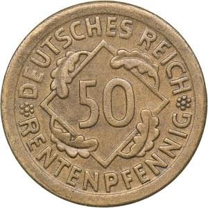 Germany - Weimar Republic 50 rentenpfennig 1924 E