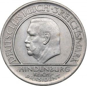 Germany - Weimar Republic 3 reichsmark 1929 D Paul von Hindenburg