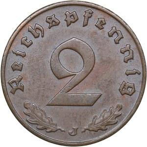 Germany 2 reichspfennig 1940 J