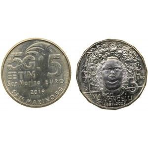 San Marino 5 euro 2017, 2019 (2)