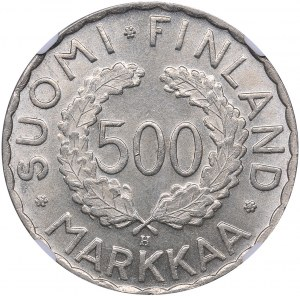 Finland 500 markkaa 1951-H Olympics - NGC MS 62