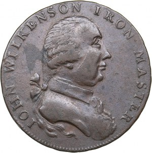 Great Britain - John Wilkinson Halfpenny Token 1793
