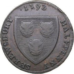 Great Britain - Shrewsbury Halfpenny Token 1793