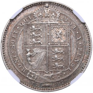 Great Britain One schilling 1887 - NGC AU 58