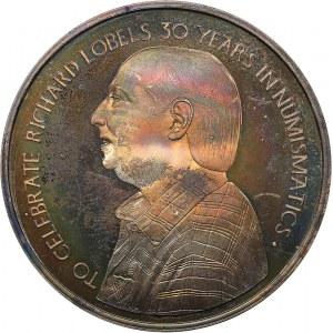 Great Britain medal Richard Lobels 30 years in numismatics, 1985