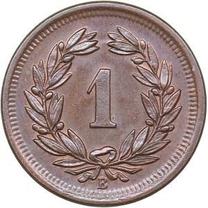 Switzerland 1 rappen 1895