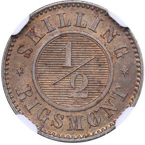 Denmark 1/2 skilling rigsmont 1868 - NGC MS 64 RB