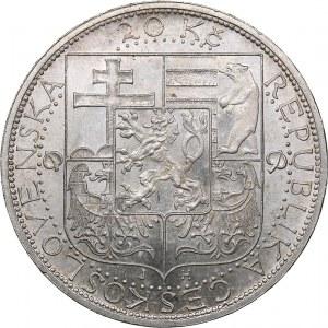 Czechoslovakia 20 korun 1937