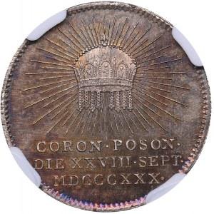 Hungary medal Poson Coronation 1830 - NGC MS 63
