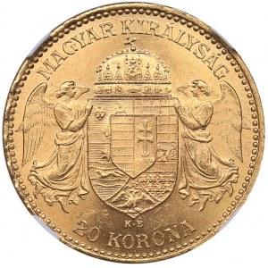 Hungary 20 corona 1896 KB - NGC MS 62