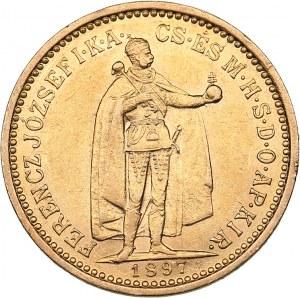 Hungary 10 korona 1897