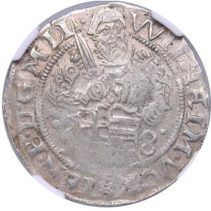 Riga 1/2 mark 1558 - Wilhelm Fürstenberg (1557-1559) - NGC MS 61