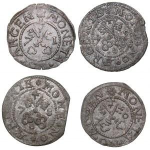 Riga Free City schilling 1570, 1571, 1578, 1579 (4)