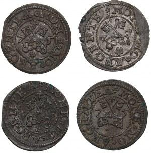 Riga Free City schilling 1575, 1576, 1577, 1578 (4)