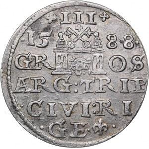 Riga 3 grosz 1588 - Sigismund III (1587-1632)