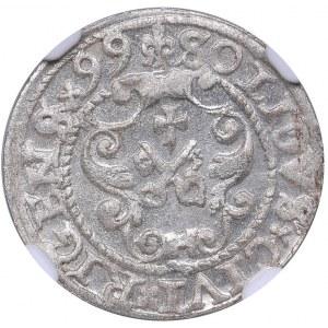 Riga - Poland solidus 1599 - Sigismund III (1587-1632) - NGC MS 66