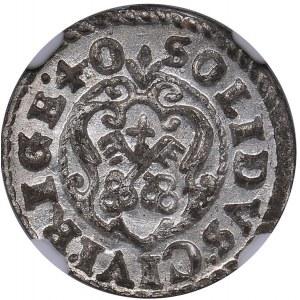 Riga - Sweden Solidus 1640 - Kristina (1632-1654) - NGC MS 65