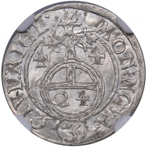 Riga - Sweden 1/24 taler 1644 - Kristina (1632-1654) - NGC MS 65