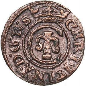 Livonia - Riga - Sweden Solidus 1645 - Kristina (1632-1654)