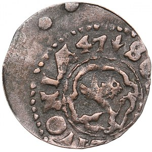Livonia - Riga - Sweden Solidus 1647 - Kristina (1632-1654)