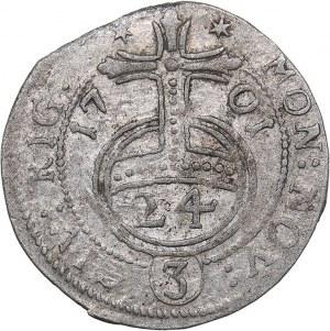 Riga - Sweden 1/24 taler 1701  - Karl XII (1697-1718)