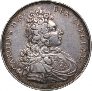 Sweden - Estonia medal Relief of Narva from the Russian threat. 1700