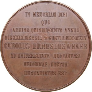 Russia - Estonia medal Academician C.E. Baer. Premiums of imperial academy of sciences. ND (1874)
