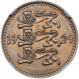 Estonia 1 mark 1924 - NGC MS 64